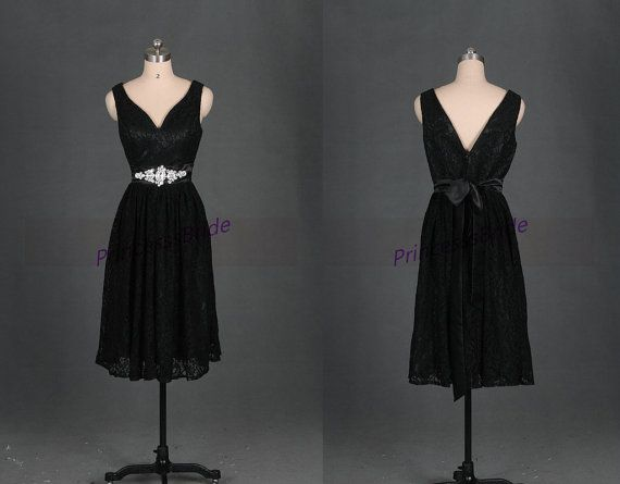 Hey, I found this really awesome Etsy listing at https://www.etsy.com/listing/191305248/short-black-lace-bridesmaid-dresses-tea