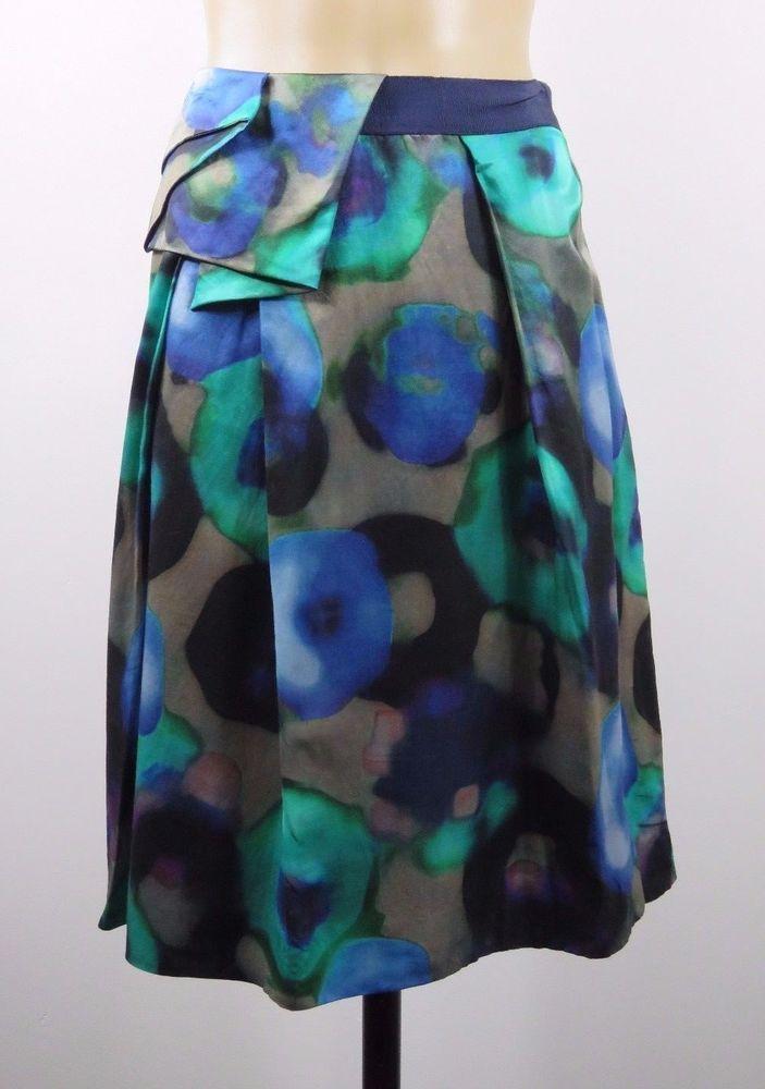 Size M 12 Veronika Maine Ladies Skirt Boho Chic Feminine Cocktail Business Style #VERONIKAMAINE #ALine #Cocktail