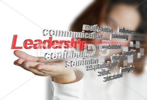 3d leadership skill as concept Stock Illustration #AD