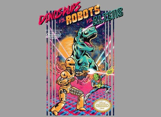 DINOSAURS VS. ROBOTS VS. ALIENS Design