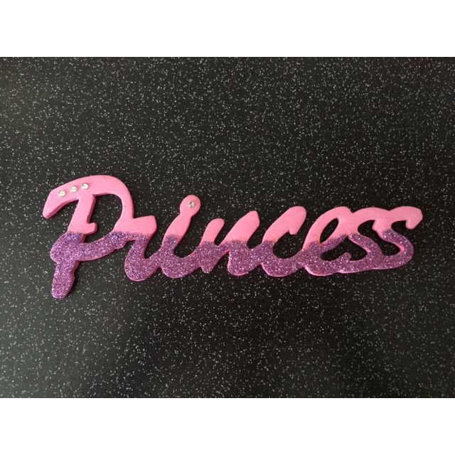 #order #finished for a #customer #princess #pink #purple #glitter #diamontes #designs #wooden #lovely