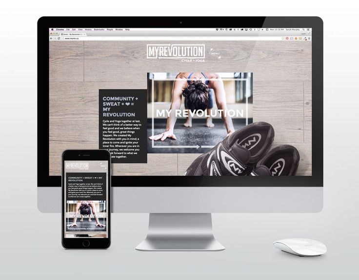 MY REVOLUTION CYCLE + YOGA - From the creation of their corporate identity to their website and stationery.