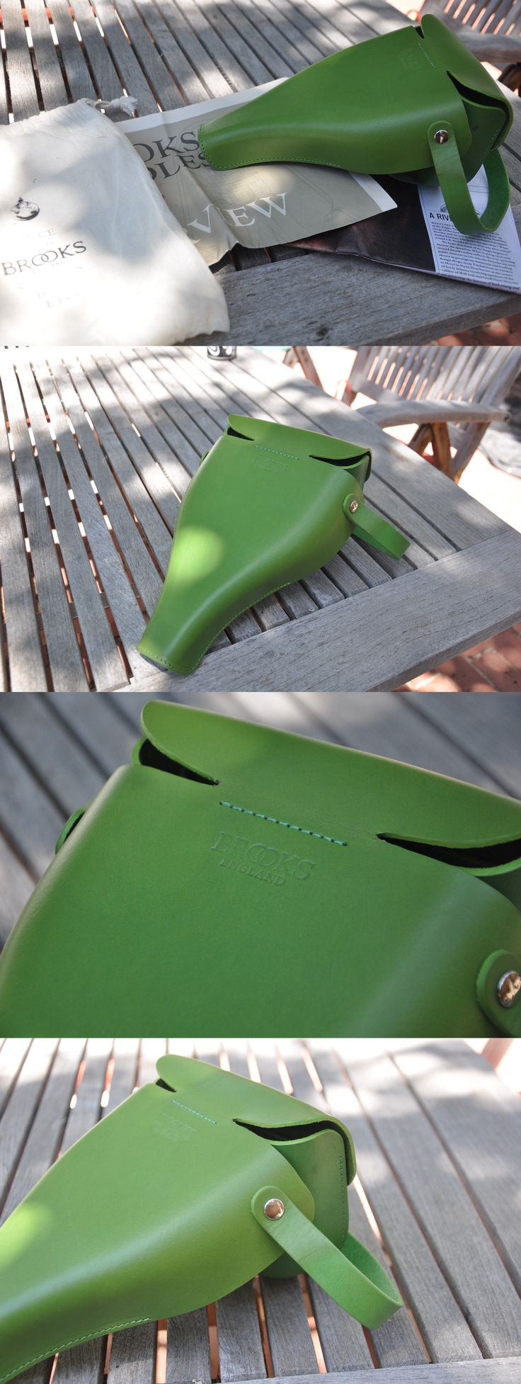Saddle Covers Seat Covers 177838: Brooks Victoria Saddle Bag Handbag Purse Apple Green -> BUY IT NOW ONLY: $30 on eBay!