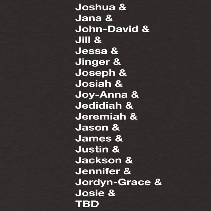 the duggar family names