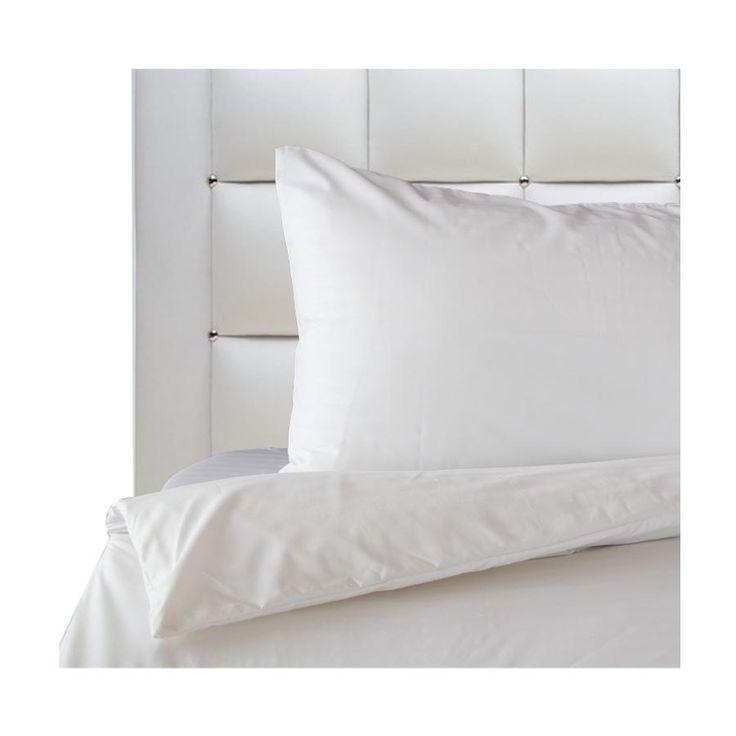 Mezzo Pure Plain White Bedding Set