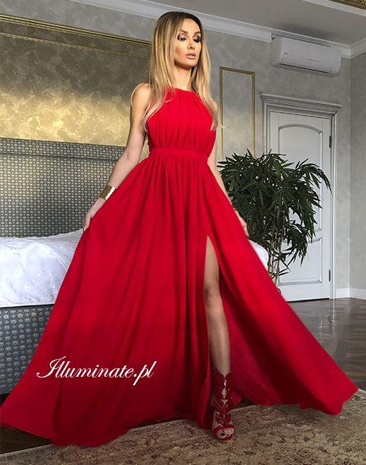 ac8d704d16 Długa czerwona suknia Ellie  reddress  redmaxidress  promdress   stunningdress  madeinpoland 389zł- …