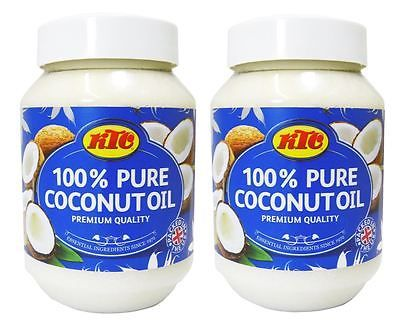 2 x ktc 100% pure #coconut oil 500ml, hair & skin #moisturiser edible, #cooking,  View more on the LINK: 	http://www.zeppy.io/product/gb/2/322099963079/