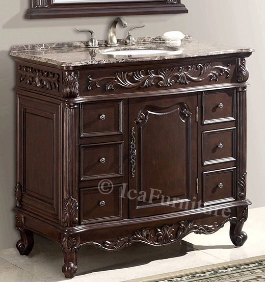 40 Inch Single Vanity With Marble Top Item 2740 This