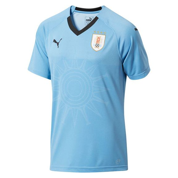 Puma Uruguay World Cup 2018 Soccer Jersey (Home 17/18): https://www.soccerevolution.com/store/products/PUM_40295_A.php