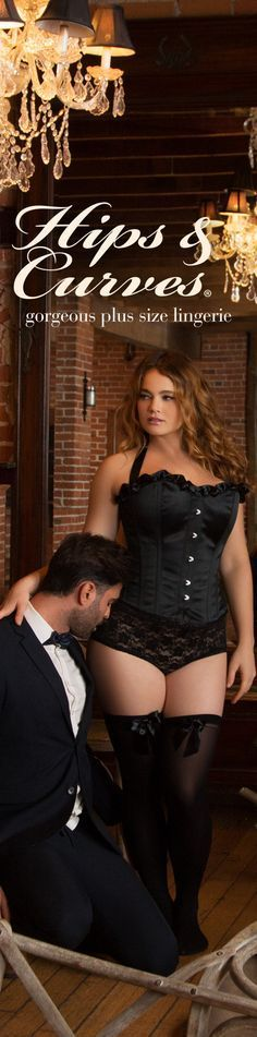 Old world romance with a modern twist in our plus size corsets.  Shop all your plus size lingerie needs and wants at Hips & Curves.