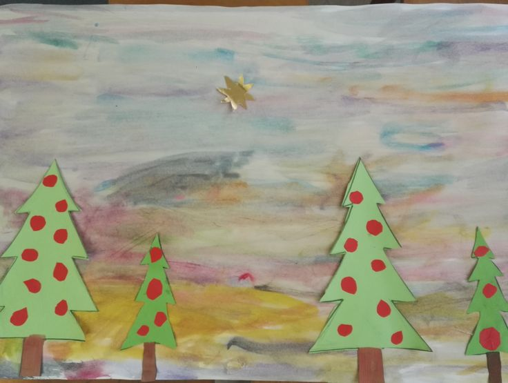 Christmas Drawing. Art Therapy with Children, ages 5-7