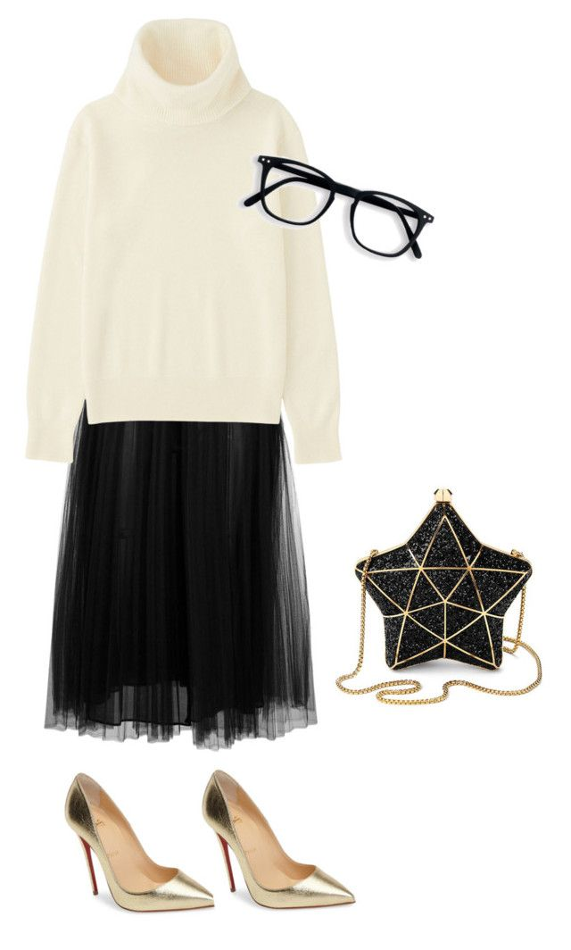 """Date night # 234"" by jennykenny-1 on Polyvore featuring Valentino, Christian Louboutin, Uniqlo and Aspinal of London"