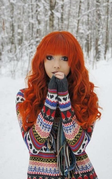Indie Hipster Girl Tumblr Red Hair