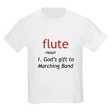 Flute Definition T-Shirt... so... guys. Why don't all the flutes in the marching band have these?