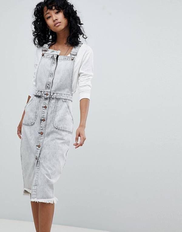 One Teaspoon Denim Pinafore Dress | Denim jumper dress