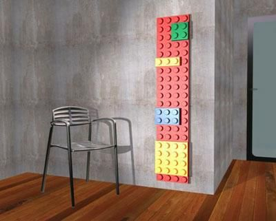 Lego radiator! This would be a great addition to any kids room