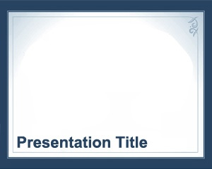 University PowerPoint Template with white background and frame color