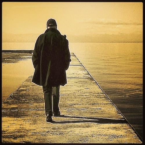 Thessaloniki, paralia, walker by the seaside.