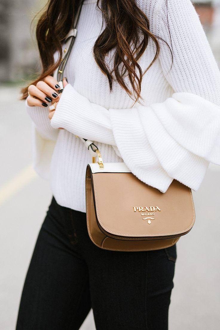 Prada bag + bell sleeves
