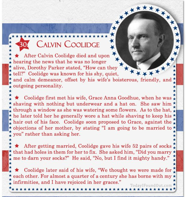 100+ Facts About US Presidents 30- Calvin Coolidge
