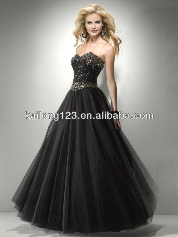 Blingy Strapless Long Prom Dresses