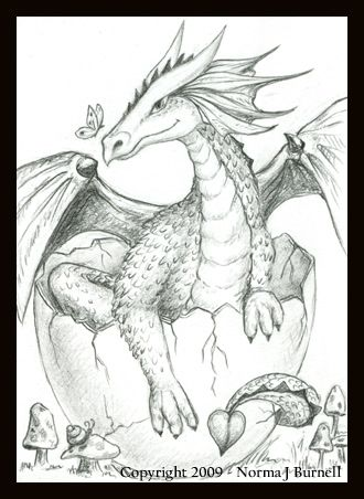 Baby Dragon Hatching Coloring Pages