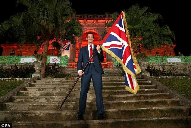 Wimbledon champion Andy Murray was named as the Team GB flag-bearer at the Olympic Games opening ceremony in Rio's Maracana Stadium last Friday