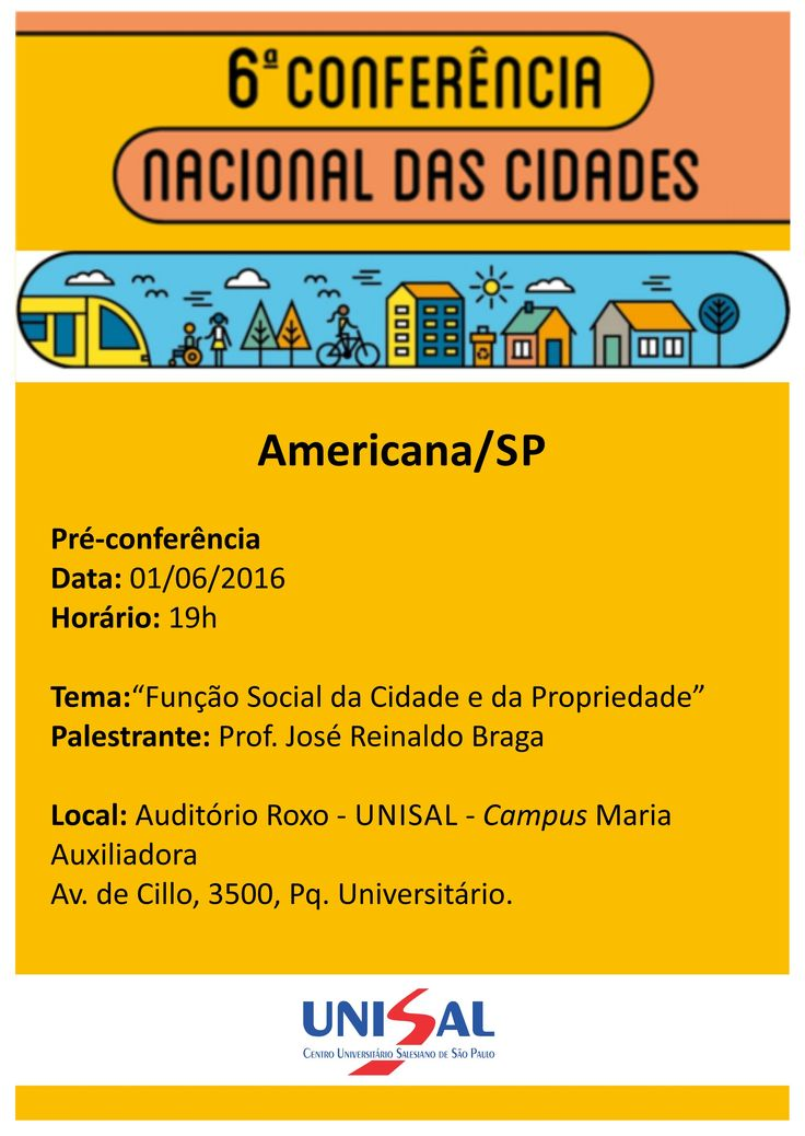 Cartaz Evento UNISAL