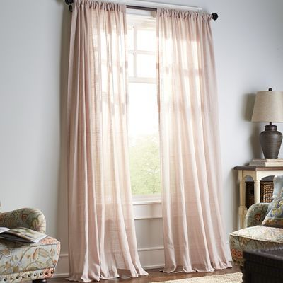pier 1 imports quinn sheer curtain blush 84 2995 per panel - Bedroom Curtain Colors
