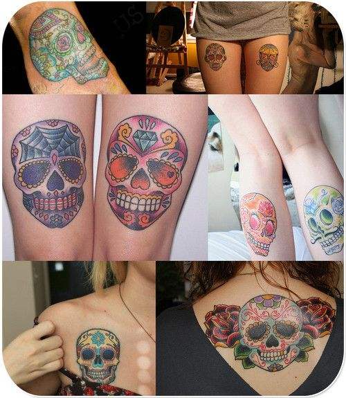 Girls skull tattoos