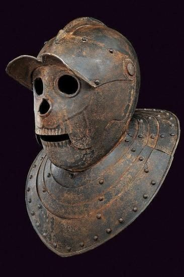 flabergastertron: qsy-complains-a-lot: the sexiest pieces of Western European armor, the Savoyard helms.a type of closed burgonet in use in the XVIIth century, it was also called the death's head helmet in German and the Tête de cul in French {{citation needed}} Lordy!