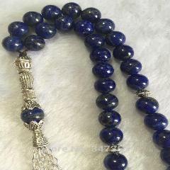 [ 28% OFF ] Natural 33 Afghanistan Lapis Lazuli Semi-Precious Stone Amber Kehribar Tesbih Prayer Beads Islamic Muslim Tasbih Allah