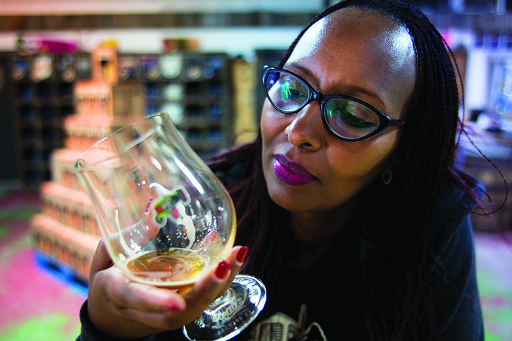 Draft Magazine: Crafted in Kigali. Pictured: Fina Uwineza at Beau's