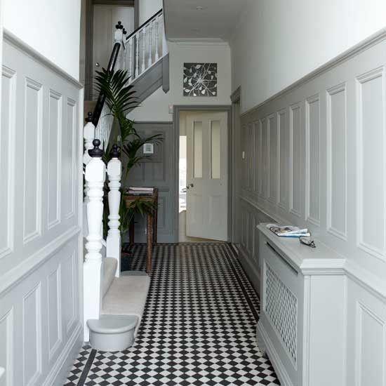 White hallway with panelling   Hallway ideas   Hallway   Image   housetohome.co.uk