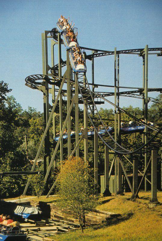 Zambezi Zinger at Worlds of Fun in Kansas City, MO.  My all-time FAVORITE roller coaster.