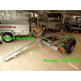 Porte moto 2 rails 220x130 cm Perez-remorque Béziers