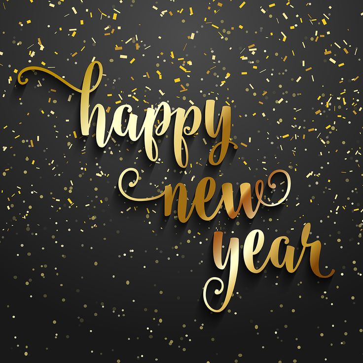 3d Gold Happy New Year 2017 wallpaper image