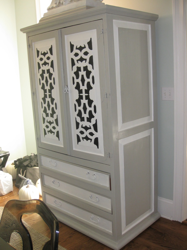 Makeover of an old pine armoire Ralph