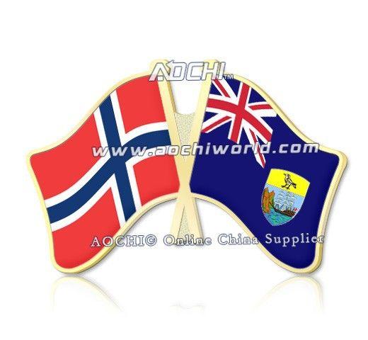 Смешать и матч лучшие продажи высокое качество норвегия и сент-луис нью-хелена скрещенные отворотом флагов
