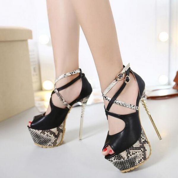 Concise Snake Line Platforms Hollow-Out Peep-Toe Thin Heels Pumps ($16.25) http://www.clubwholesale.net/shoes/pumps