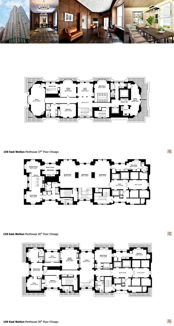 See The Floor Plans For Vince Vaughn S Huge Triplex Penthouse Luxury Floor Plans Floor Plans Mansion Floor Plan