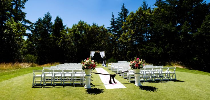 Private Ceremony Site Olympic View Golf Club Wedding Photo Victoria Vancouver Island Weddings