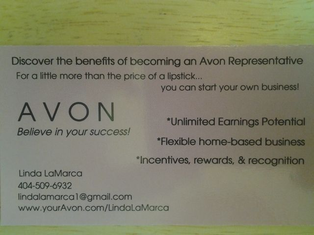 Avon - Ways to get Client Avon Marketing Business cards templates - sample sales tracking
