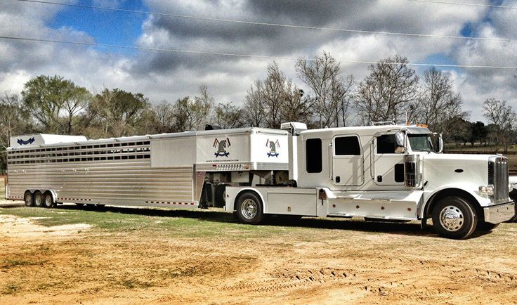 Here's a shot of one of our customer's rigs they sent in yesterday. Horsegate Polo from Hempstead, TX is gearing up for the season with their custom built 4-Star 12 Horse Slant Polo w/ Air-Ride (53' total length) they ordered from us last year. This was their 3rd 4-Star from us. Good luck Horsegate! (877) 543-0733