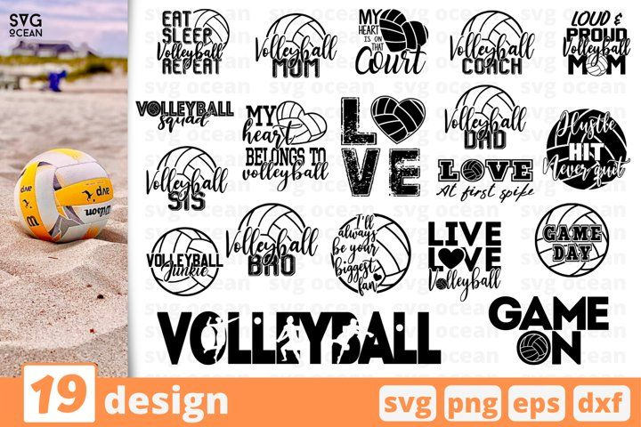 Volleyball Player Svg Cutting Plotter Png file Dxf Ai Cricut Cdr Vector Files for Silhouette Eps