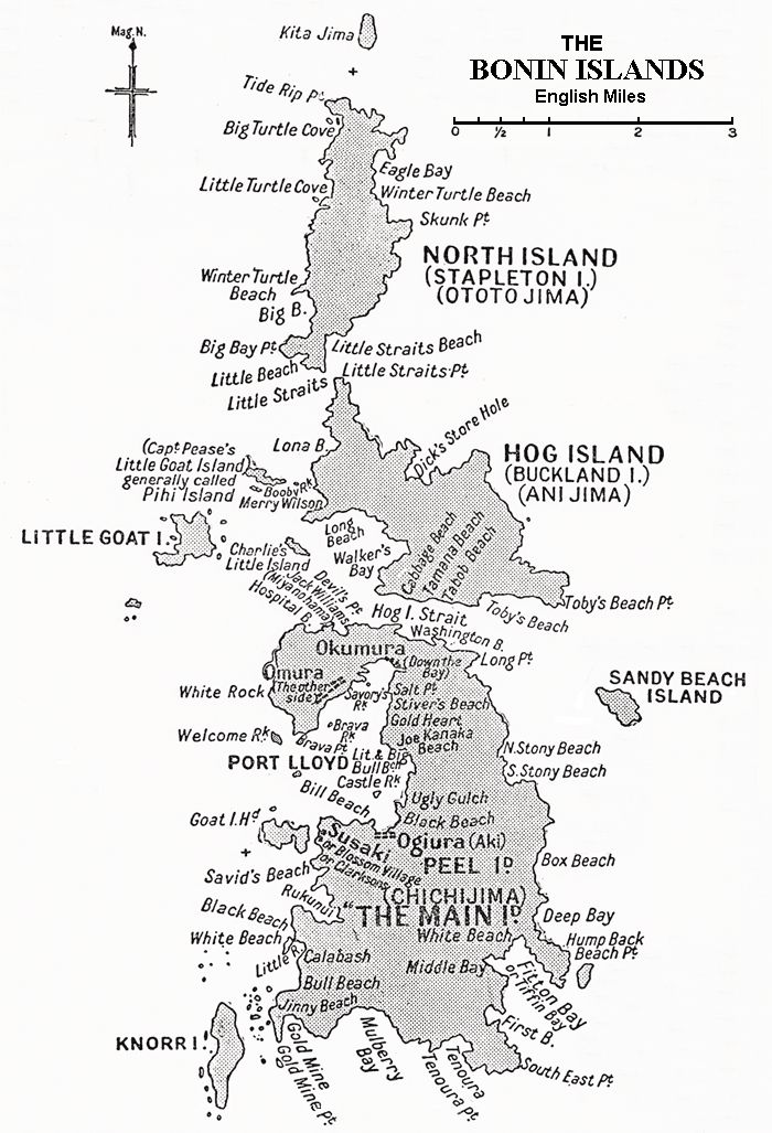Cholmondeley's History of the Bonin Islands: Bonin Islands Map