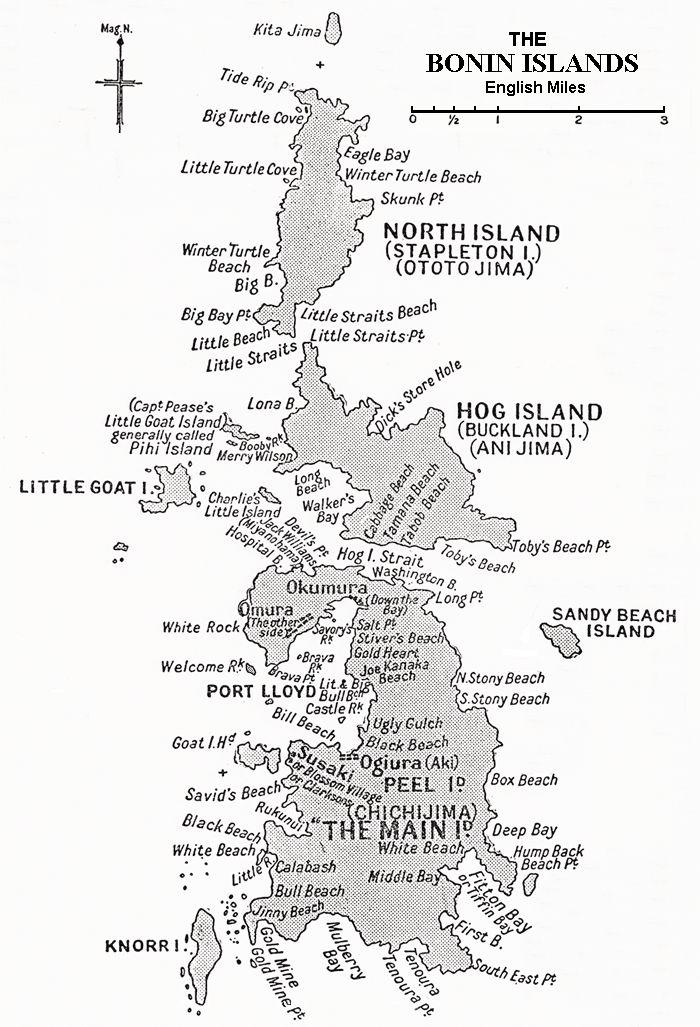 Cholmondeley's History of the Bonin Islands: Bonin Islands Map