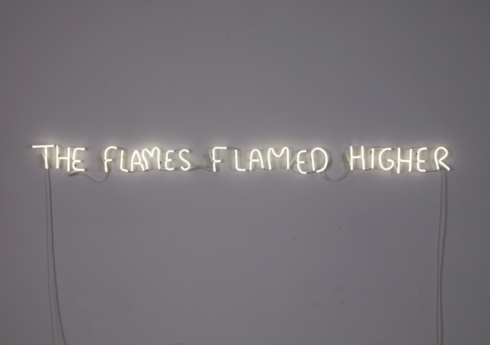 'The Flames Flamed Higher' Neon, 2011 by artist Thrush Holmes #neon