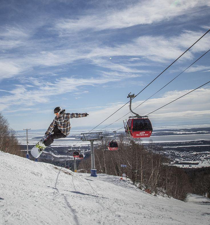 Mont-Sainte-Anne à Beaupré #SommetsStLaurent http://www.sommetsdusaint-laurent.com Summits Ski // Ski Québec