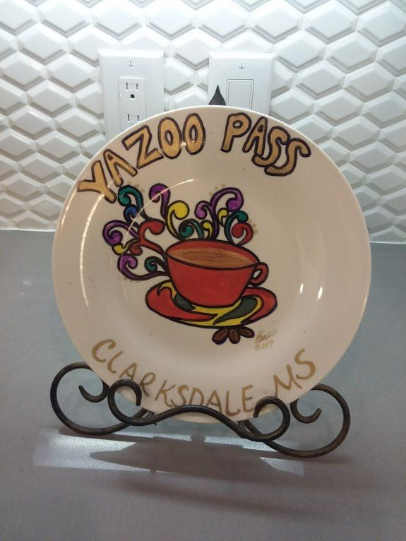 A spot to visit in Cdale, MS - DishesUnique. Decorative plate featuring The Yazoo Pass logo. If